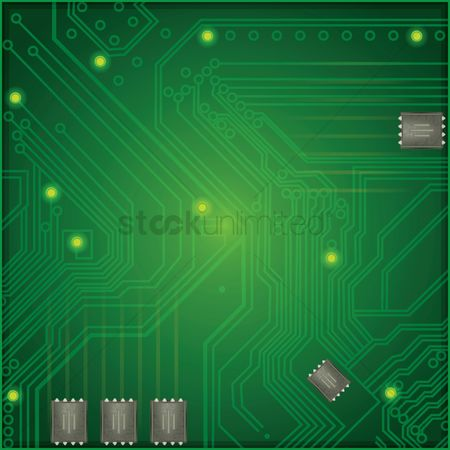 Technicals : Circuit board and chips