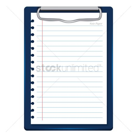 Supply : Clipboard with paper