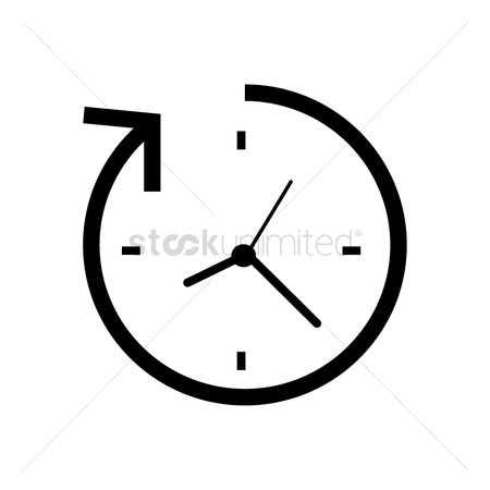 2001951 Continue Arrow Clock With
