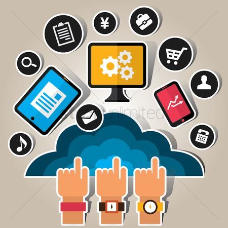 Retail : Cloud computing concept