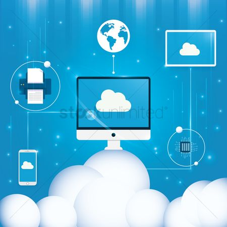 Electronic : Cloud computing concept