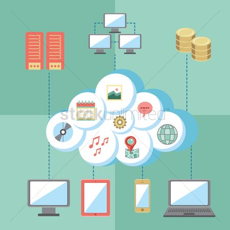 Coins : Cloud computing infographic