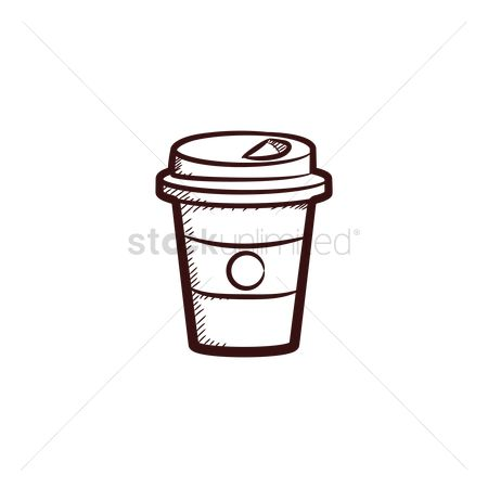 Take away cup : Coffee in a paper cup