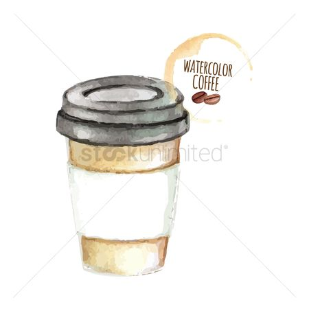 Coffee : Coffee in disposable cup