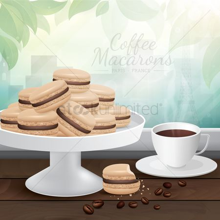 Confections : Coffee macarons