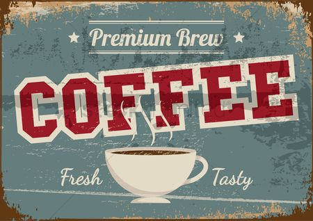 Grunge : Coffee poster