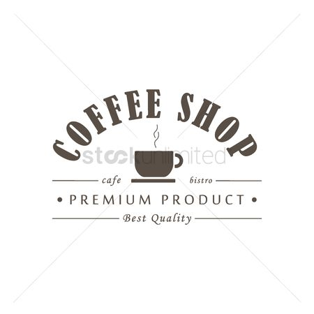Cafe : Coffee shop label