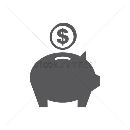 Container : Coin and a piggy bank