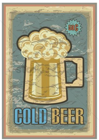 Old fashioned : Cold beer poster