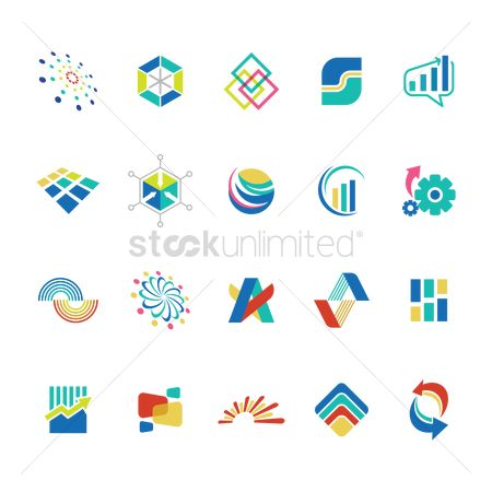 Wheel : Collection of abstract business icons