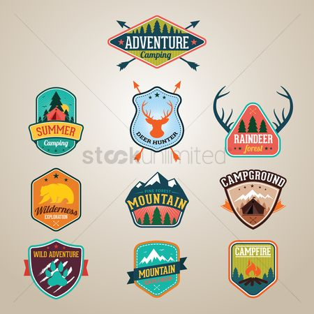 Tents : Collection of adventure labels