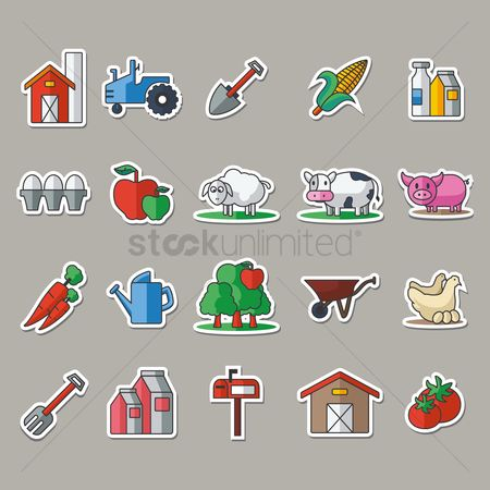 Cow : Collection of agricultural items