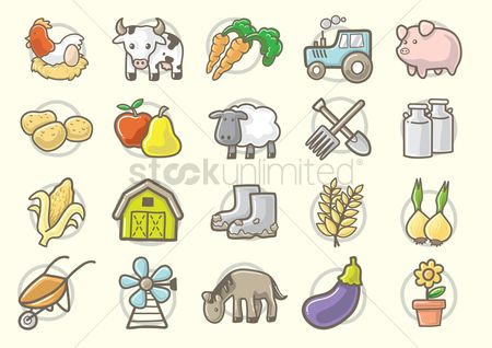 Agriculture : Collection of agriculture elements