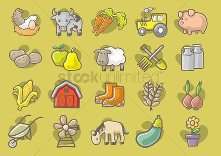 Cow : Collection of agriculture elements