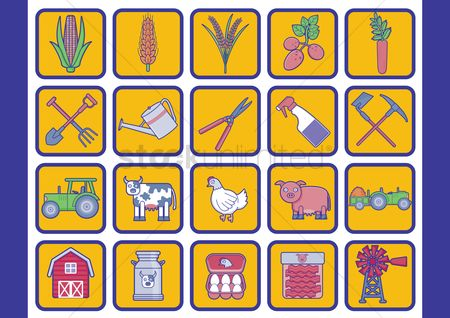 Wheats : Collection of agriculture icons