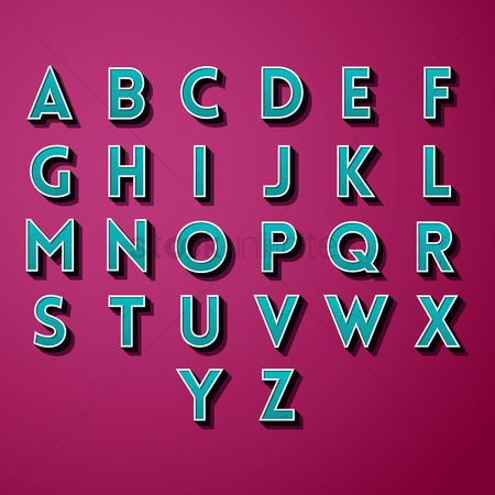 Styles : Collection of alphabets