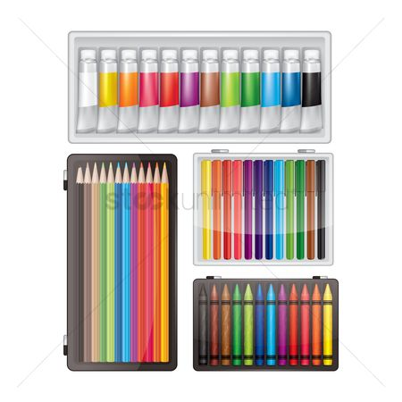 Supply : Collection of art supplies