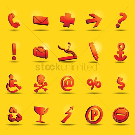 Wheelchair : Collection of assorted icons