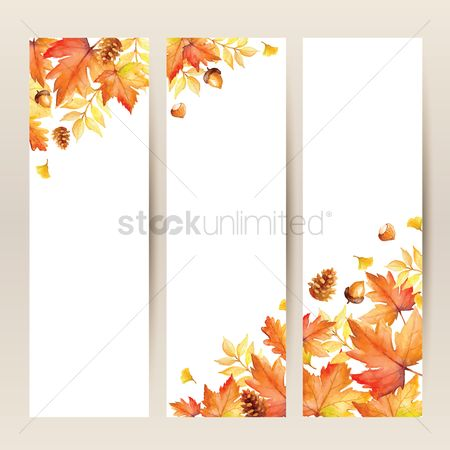 Season : Collection of autumn themed banner