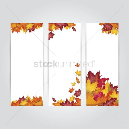 Skyscraper : Collection of autumn themed banners