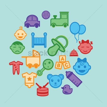 Play kids : Collection of baby icons
