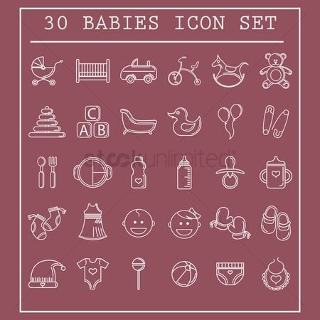 Mitten : Collection of baby icons
