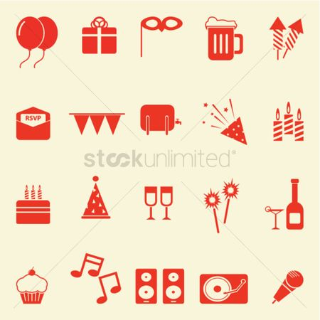 Wine barrel : Collection of birthday icons