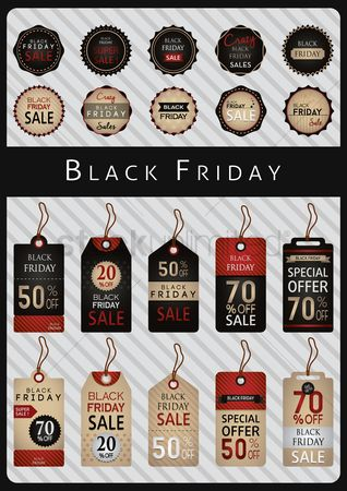 Black friday : Collection of black friday labels and tags
