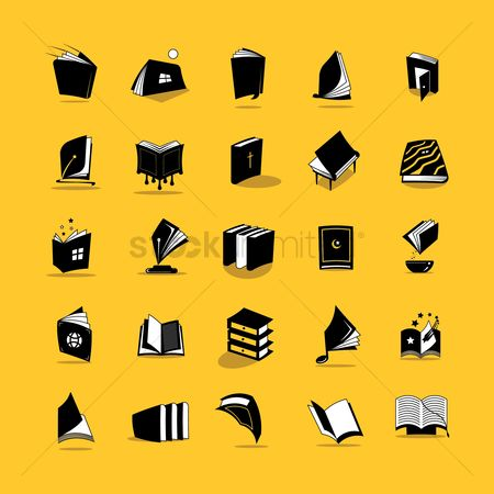 Open : Collection of book icons