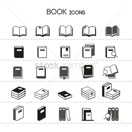 Supply : Collection of book icons