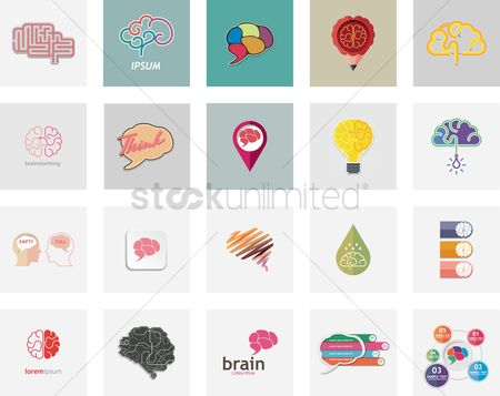 Datum : Collection of brain icons