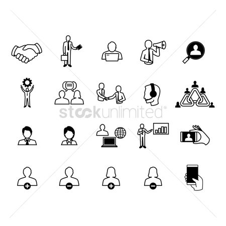 Entrepreneur : Collection of business icons