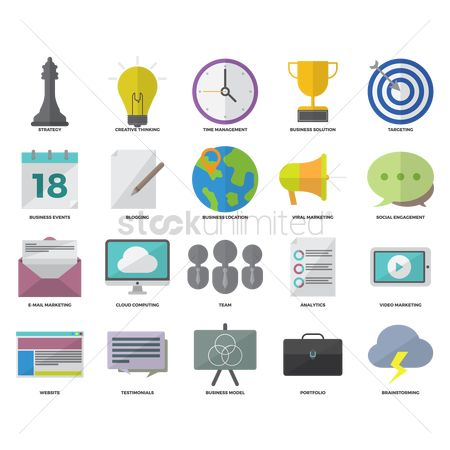 Email : Collection of business icons
