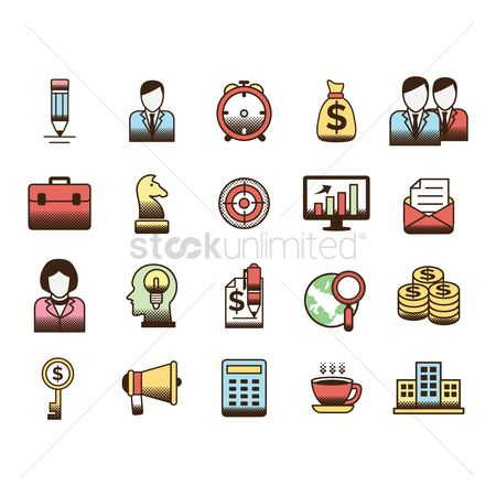 Sack : Collection of business icons
