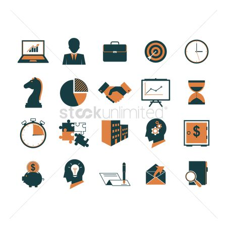 Sand clock : Collection of business icons