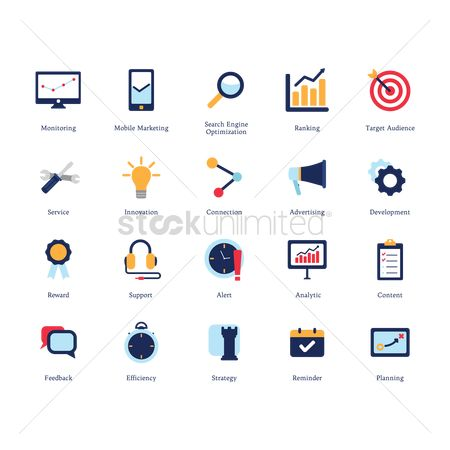 Ideas : Collection of business icons