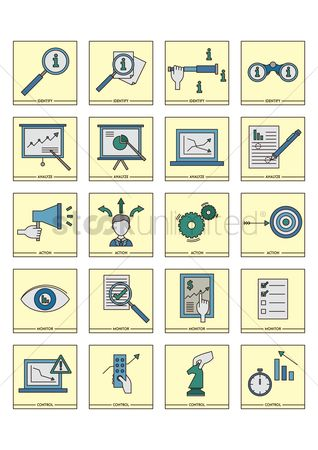 Checklists : Collection of business strategy icons