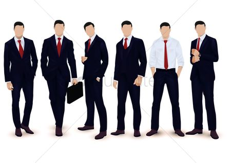 Posing : Collection of businessmen
