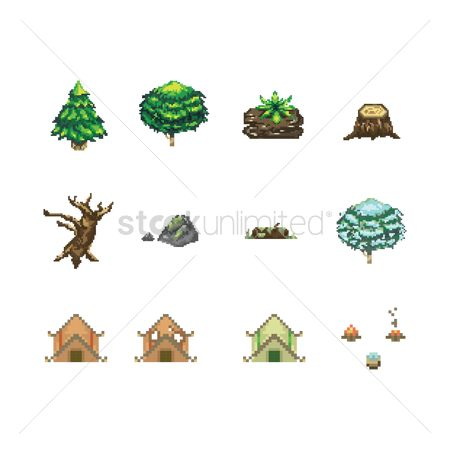 Camp : Collection of camping icons