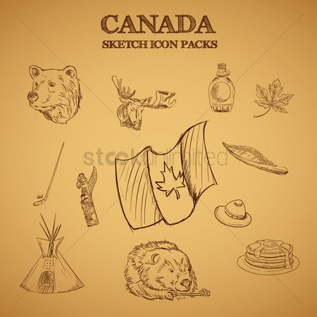 Hotcake : Collection of canada sketch icon packs