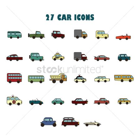 Lorries : Collection of car icons