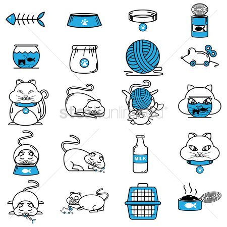 Eat : Collection of cat related objects