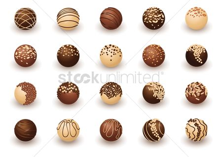 Confectionery : Collection of chocolate balls
