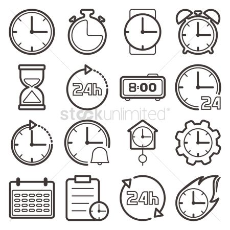 Sand clock : Collection of clock icons