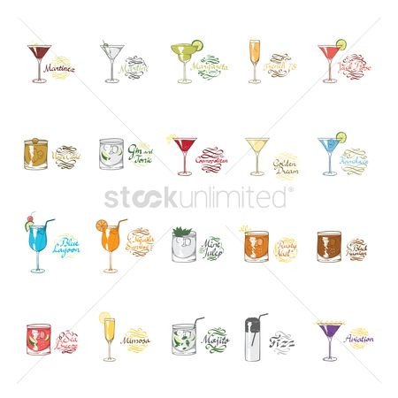 Drinking : Collection of cocktails