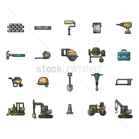 Jack : Collection of construction icons