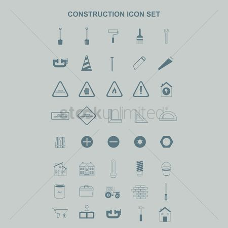 Brushes : Collection of construction icons