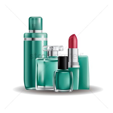Gases : Collection of cosmetic products