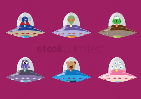 Spaceships : Collection of creatures in spaceship