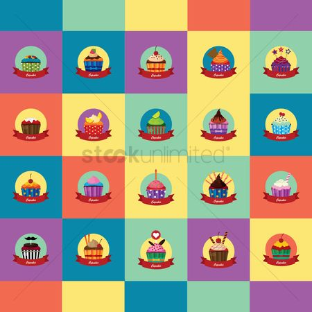 Confections : Collection of cupcakes